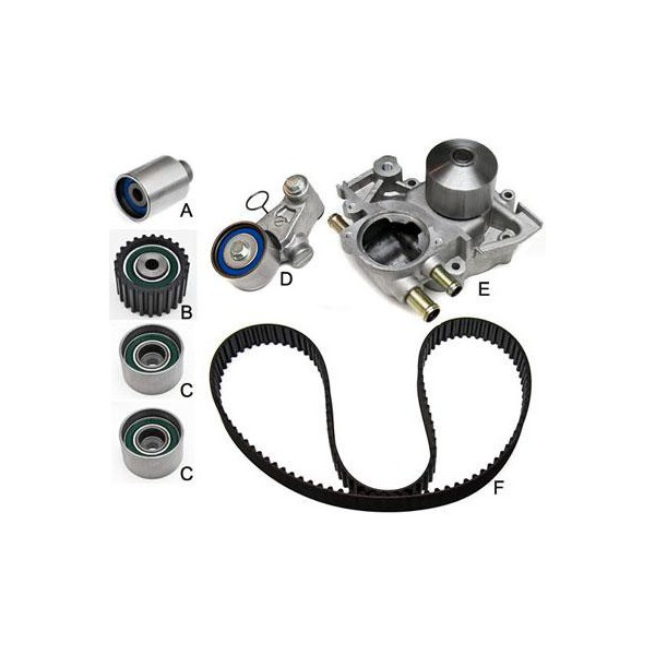 gates tckwp328a timing belt component kit w   water pump subaru wrx 02