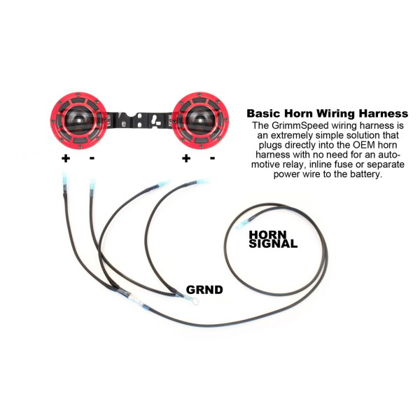 GrimmSpeed 040005 Hella Horn Wiring Harness Subaru STI WRX
