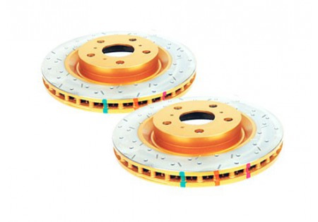 DBA 4000XS Cross-Drilled Front Brake Rotors