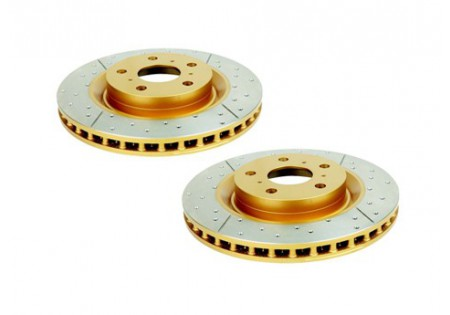 DBA X-Gold Drilled & Slotted Front Brake Rotors