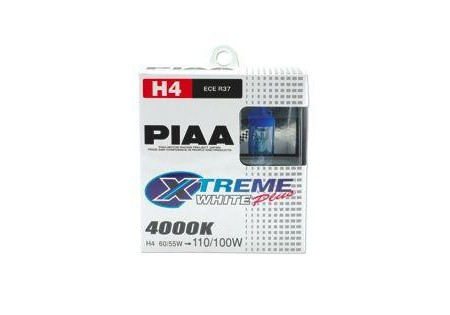 PIAA H4 Extreme White Plus Bulbs Twin Pack
