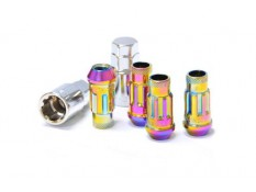Muteki SR48 Lug Nuts Neon Chrome M12x1.5 Open (Locking Set)