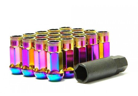 Muteki SR48 Lug Nuts Neon Chrome M12x1.5 Open