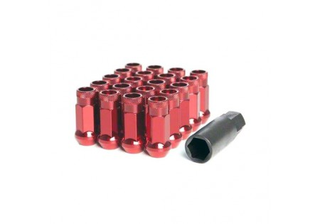 Muteki SR48 Lug Nuts Red M12x1.5 Open
