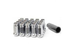 Muteki SR48 Lug Nuts Silver M12x1.5 Open