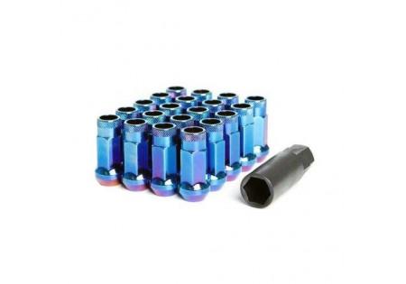 Muteki SR48 Lug Nuts Burning Blue Neon M12x1.5 Open