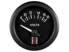 STACK 52mm Electric Battery Voltage Gauge - 8-18V