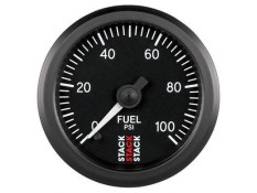 STACK 52mm Pro Stepper Analog Fuel Pressure Gauge - 0-100 psi