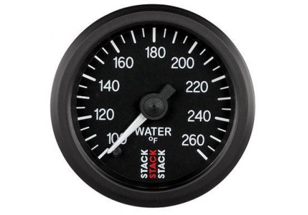 STACK 52mm Pro Stepper Analog Water Temperature Gauge - 100-260F