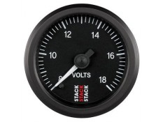 STACK 52mm Pro Stepper Analog Battery Voltage Gauge - 8-18V