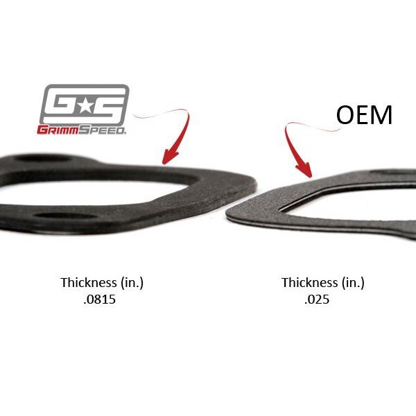 Grimmspeed 020024 intercooler y pipe gaskets subaru sti 04 15 wrx 02 07 subie tuned